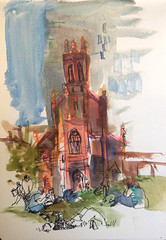 Sketches from Yerba Buena Gardens, San Francisco (suhita1) Tags: sanfrancisco park church sketch drawing location stpatricks stpatrickschurch urbansketch