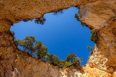 Heaven. (WaSz-Fotograf) Tags: ocean travel blue trees light sea summer sky italy sun green water beautiful beauty rock pine italia cave puglia apulia 500px ifttt
