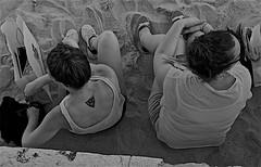 An unusual perspective of two girls (pedrosimoes7) Tags: street girls people blackandwhite bw portugal blackwhite lisbon candid cc creativecommons terreirodopao streetpassionaward blackwhitepassionaward