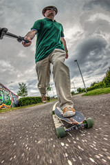 Kick.....Push....and Coast.... (D-W-J-S) Tags: portrait self coast movement skateboarding kick dundee fisheye tokina skate longboard skateboard push selfie longboarding fibreflex 1017mm