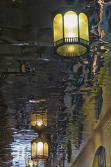 Covent Garden Ceiling (mclcbooks) Tags: london reflections mirror ceiling coventgarden lamps shimmer