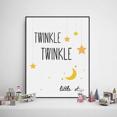Freeshipping Minimalist Kawaii Twinkle Stars Typography Music Song Quotes Art Print Poster Nursery Wall Art Canvas Painting Kids Room Decor by PicSaying (Mild Art) Tags: art home wall modern print poster typography canvas quotes nordic inspirational decor minimalist motivational