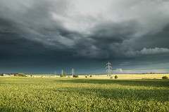 Storm Chasing (Adam_Marshall) Tags: adam marshall summer landscape sawtry timelapse stereocolours outdoors green sky rain field clouds adammarshall nature lightning storm weather countryside cambridgeshire canon eos70d sigma 1750mmf28 power lines grey vast empty flat lee filters