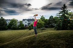 Up (jlr_keys) Tags: sunset kite woman girl hill house red color colorsinourworld