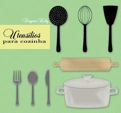 Utensilios para cozinha (dayarakelly) Tags: cozinha vetor utensilios dayara dayarakelly vectorcozinha