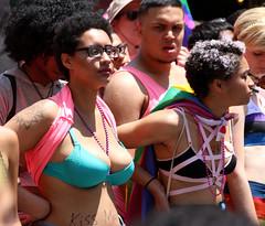. (SA_Steve) Tags: pride nyc 2016 lgbt lgbtq parade equality love peace kissme boobs breasts bra gay lesbian bisexual transgender bi