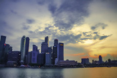 Marina Bay Sunset (jhaycel21) Tags: sunset singapore cbd hdr mbs marinabay 3xp