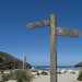 Beach and Sign at Mawgan Porth