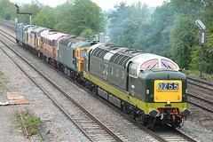 Classic Convoy 1 (JohnGreyTurner) Tags: uk tractor train br diesel 33 transport engine rail railway brush locomotive preserved 37 55 31 convoy didcot oxfordshire ee growler type3 syphon siphon type2 deltic englishelectric class37 class55 class33 class31 brcw