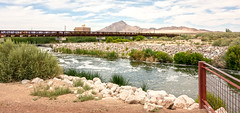 Las Vegas Wash Site to Bridge and Weir (ken mccown) Tags: nevada erosion wetlands mojavedesert urbanriver lasvegaswash clarkcountywetlands