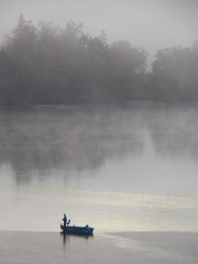 Something's Biting (photohuszar) Tags: lake fog fishing quiet wallart foggymorning photodecor photohuszar