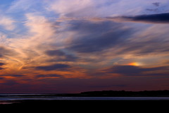 Sundog over the beach at sunset 21-05-13 (James Lennie) Tags: sunset sky nature skyline night clouds canon photography cloudy dusk devon dslr sundog northdevon atlanticcoast canon600d canonf4l70200zoomlens