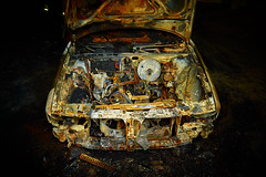 Burn Baby Burn (cszar) Tags: car fire nikon accident burn nikkor audi speedlight d700 2470mmf28g sb700 captureone7