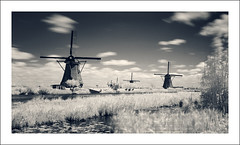 Kinderdijk (IR) (Vincent_AF) Tags: longexposure mill windmill ir photography photo foto fotografie nederland thenetherlands unesco cc photograph creativecommons infrared af kinderdijk flickrphoto flickrimage flickrphotography vincentvanderpas archetypefotografie