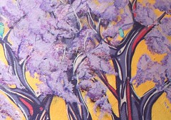 """Jacarand"" (Icaro Silencia art) Tags: streetart color mural grafitti arte aves pajaros linea pintura forma colibri figura alquimia silencia icaro muralismo esporas vasijas icarosilencia calleartecallejero"