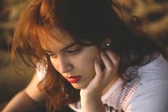 Natlia (Adrielly .) Tags: park brazil portrait woman girl beautiful face canon 50mm bokeh redhead teen delicate 450d