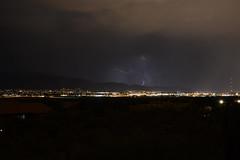ABQ Dance of Lightning - 9 (Paula High (KE5DDZ)) Tags: sky storm newmexico weather night evening albuquerque citylights abq lightning thunder thunderstorms