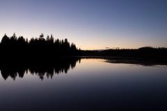 Il Suono del Silenzio (MilleLuci) Tags: blue mountain lake reflection nature silhouette lago twilight blu natura silence hour ora montagna trentino riflesso silenzio passo lavaz