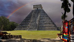 mayan rainbow (miguelyn...) Tags: rain clouds mexico rainbow day maya yucatan mayanriviera kukulcan chicenitza bestcapturesaoi magicunicornmasterpiece flickrsfinestimages1 flickrsfinestimages2