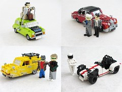Cars from British TV (Mad physicist) Tags: cars lego british mrbean topgear onlyfoolsandhorses inspectormorse