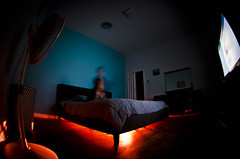 Whats Under The Bed!!!!!2 (djericray) Tags: longexposure scary downtown nightlights underthebed dx 210 sanantoniotexas 105mm lightpaint nikkor105mmf28fisheye nikond7000