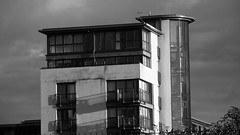 new architecture, Lochrin Basin 04 (byronv2) Tags: blackandwhite bw building monochrome architecture canal blackwhite edinburgh shadows modernarchitecture tollcross unioncanal fountainbridge lochrinbasin
