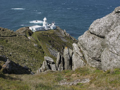 24_08_2013_0888 (andysuttonphotography) Tags: light sea england lighthouse white house building warning island coast rocks boulders devon granite shipping beacon isle lundy headland promontory