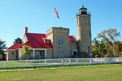 Michigan, Mackinaw City, Mackinac Point Lighthouse (2,156c) (EC Leatherberry) Tags: lighthouse museum michigan lakemichigan greatlakes lakehuron 1892 straitsofmackinac nationalregisterofhistoricplaces cheboygancounty tudorrevivalstyle liveinlighthouse