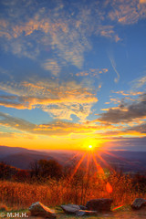 Sunset at Skyline Drive (m_hamad) Tags: blue sky usa sun clouds canon landscape nationalpark farm explore shenandoah nationalgeographic skylinedrive greatnature naturebeauty supershot parksunset 60d ultimateshot dazzlingshot blinkagain