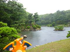 Charizard in Hiroshima, Hiroshima 6 (Shukkei-en Garden) (Kasadera) Tags: toys hiroshima figure pokemon pokmon  charizard   glurak  shukkeiengarden pokemonkids   dracaufeu