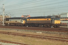 "Dutch Class 47/3, 47332 & Metals Class 56, 56076 ""British Steel Trostre"" (37190 ""Dalzell"") Tags: dutch grid br spoon duff metals wigan class47 class56 47332 triplegrey springsbranch brush4 civilengineers 56076 class473 trainloadfreight britishsteeltrostre"