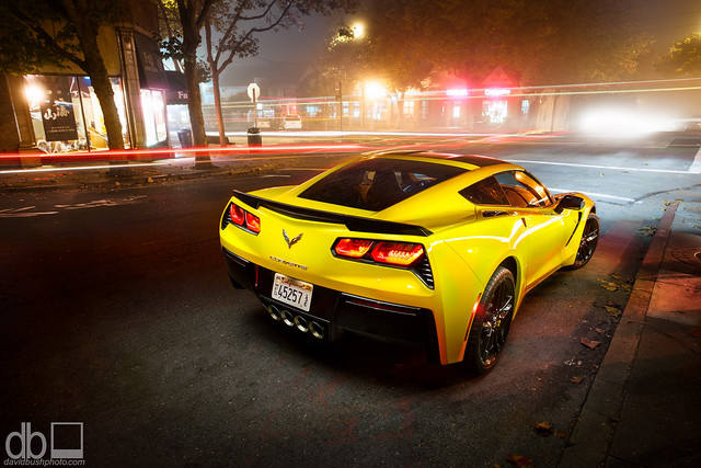 chevrolet yellow stingray chevy corvette vette 2014 c7