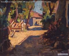 Romualdo Prati Paesaggio in Brasile 1898 olio su tavola 27x33,5cm Collezione privata