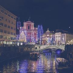 Lights (TinaP358) Tags: night town amazing awesome kitlens best slovenia ljubljana 1855mm nikkor waterscape exellent f3556vr nikkor1855mmf3556vr nikond5000