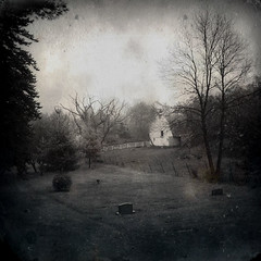 Yearning XI (William Flowers) Tags: trees cemetery barn fence memories dreams melancholia