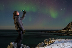Drinking the northern light (a beer named Nordlys) (Larsenio) Tags: light sea portrait people selfportrait seascape me norway portraits norge flickr seascapes pentax north norwegen arctic norwegian selftaught aurora portraiture nordic northern nord norvege selfie andya norsk nordlys nordisk nordland andy northernnorway norvegen nordnorsk pentaxian pentaxk5 norveg