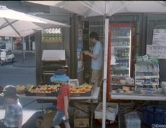 Downtown Sydney (Canon Demi EE17) (smellerbee) Tags: street city people urban shop analog 35mm canon downtown oz sydney citylife streetphotography stall australia sidewalk 35mmfilm analogue aussie aus analoguecamera colorfilm analogcamera colourfilm canondemi