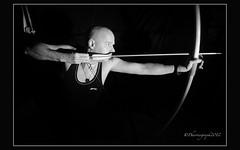 Bow (pharriergraph) Tags: bow arrow archery draw archer lowkey cls longbow strobist singleflash