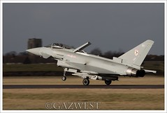 TYPHOON FGR4 ZK307 BU (Gaz West) Tags: interesting explore use 29 now load bu trainer typhoon weapons squadron belonging coningsby fgr4 zk307