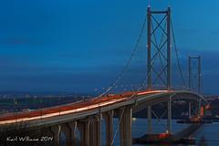 Forth Road Bridge (1) (Shuggie!!) Tags: architecture night landscape scotland bridges rivers roads lothians hdr southqueensferry forthbridges zenfolio