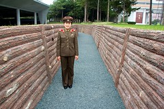 Guide at War Museum (CruisAir) Tags: woman asia military guide northkorea warmuseum pyongyang dprk cruisair