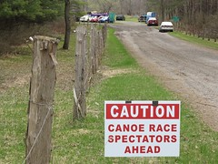 CAUTION! (deanspic) Tags: silly sign canoe canoeing canton musing marathoncanoeracing g1x stlawrencevalleypaddlers cantoncanoeweekend