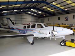 N418WS (GH@BHD) Tags: aircraft aviation beechcraft raytheon beech baron wycombeairpark g58 bookerairfield n418ws