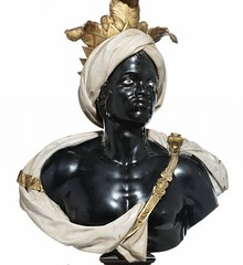 Anonymous Artist (Venetian) Two Marble Busts Italy (c. 1750s) Polychrome Marble, Gilded Bronze, 140.8 cm; 103.6 cm. via Christies (medievalpoc) Tags: venice italy sculpture art history style bust venetian marble moor renaissance scultpure 1700s medievalpoc