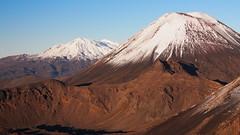 Mt Ruapehu and Mt Ngauruhoe (blue polaris) Tags: park new travel autumn landscape island volcano scenery mt crossing north mount zealand alpine national nz tongariro ngauruhoe ruapehu