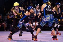 shells_vs_belles_L3032652 (1) (nocklebeast) Tags: ca santacruz rollerderby rollergirls skates 95060 bayareaderbygirls badg scdg richmondwreckingbelles santacruzderbygirls boardwalkbombshells kaiserpermanentearena