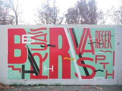 DSCN2089 (en-ri) Tags: parco muro wall writing torino graffiti dora rosso bianco nero ruas lettere reser