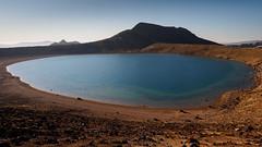Blue Lake (blue polaris) Tags: park new blue summer lake landscape island volcano crossing north zealand alpine national crater tongariro rotopaunga