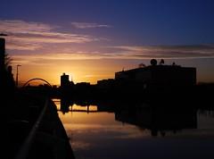 Glasgow Winter Sunrise (Michelle O'Connell Photography) Tags: morning winter sky reflection building silhouette skyline docks dawn scotland riverclyde glasgow arc milleniumbridge partick daybreak broomielaw bbcstudios clydeside bbcscotland unitedkindom whiteinch skyporn glasgowscotland glasgowsunrise michelleoconnellphotography