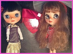Blythe-a-Day#13&#14: Chocolate; and Valentine's Day: Scout and Juliette